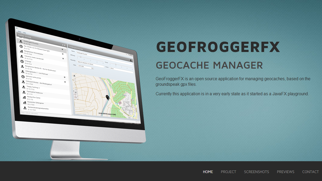 Second preview of GeoFroggerFX the JavaFX application header image